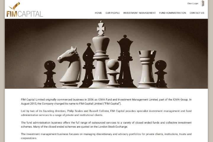 FIM Capital Corporate website screenshot