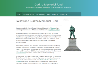 Gurkha Memorial Fund screenshot