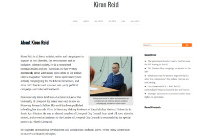 Kiron Reid website screenshot