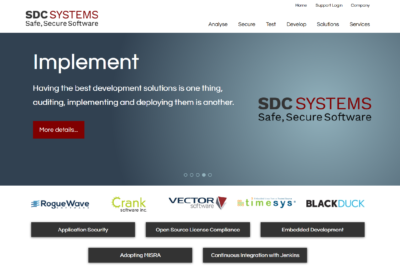 SDC Systems homepage