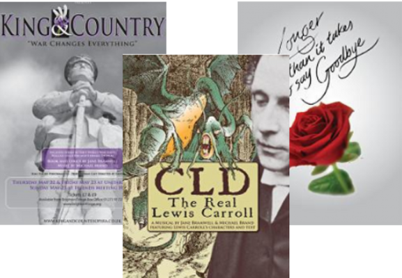 "Cover / poster of ""King and Country"", ""Longer than it takes to say Goodbye"" and ""CLD"""