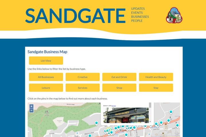 Sandgate Business Directory Map View